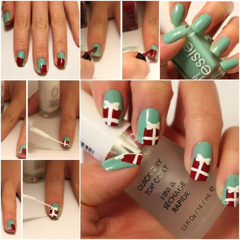 DIY christmas nail art5
