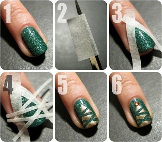 20 cutest christmas nail art diy ideas 20 cutest christmas nail art diy ideas christmas tree nails tutorial prinsesfo Choice Image