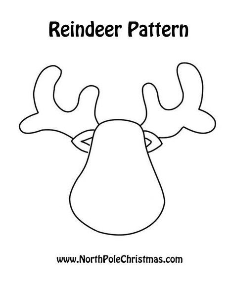 reindeer template cut out - 30 wonderful diy felt ornaments for christmas