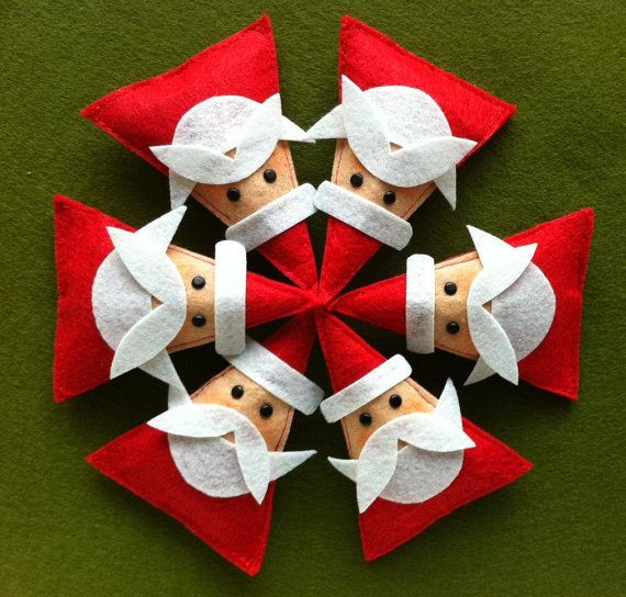 DIY Felt Christmas Ornament Pattern And Template