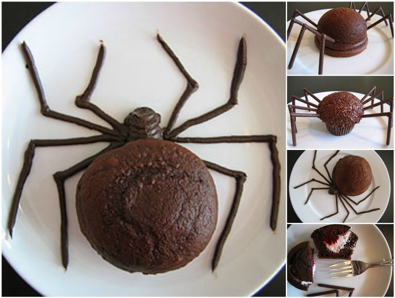 How to diy halloween spider cakes for Easy halloween cakes to make at home