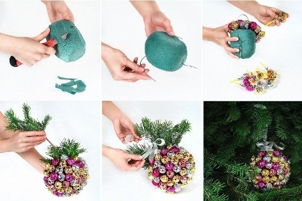 How to diy handmade christmas chupa chups ball decoration for Handmade things for decoration