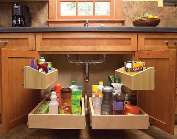 DIY Build Kitchen Sink Roll Out Storage Tray
