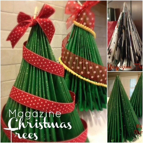 How to DIY Simple Magazine Christmas Tree