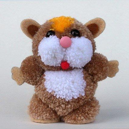 Fab Design on Yarn Pom Pom Animal Figures - Pom Pom Hamster