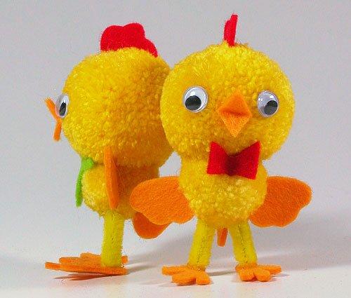 Fab Design on Yarn Pom Pom Animal Figures - Pom Pom Chicks