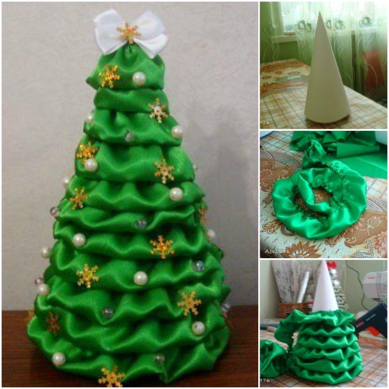 Satin Fabric Christmas Tree