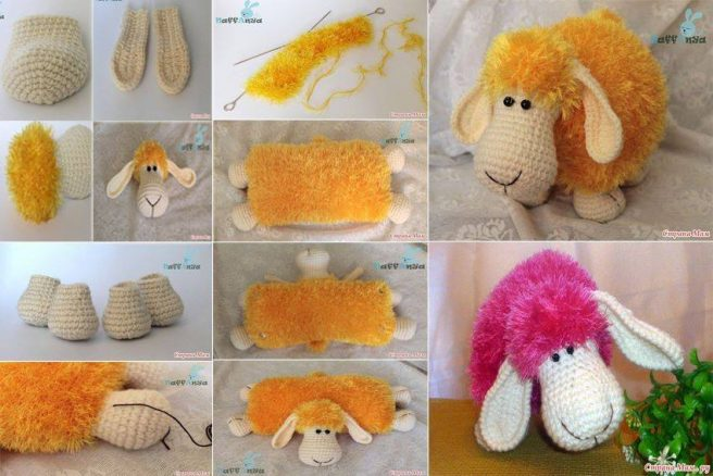 1d62e19db932 How to DIY Adorable Crochet Lamb (Sheep) Pillow