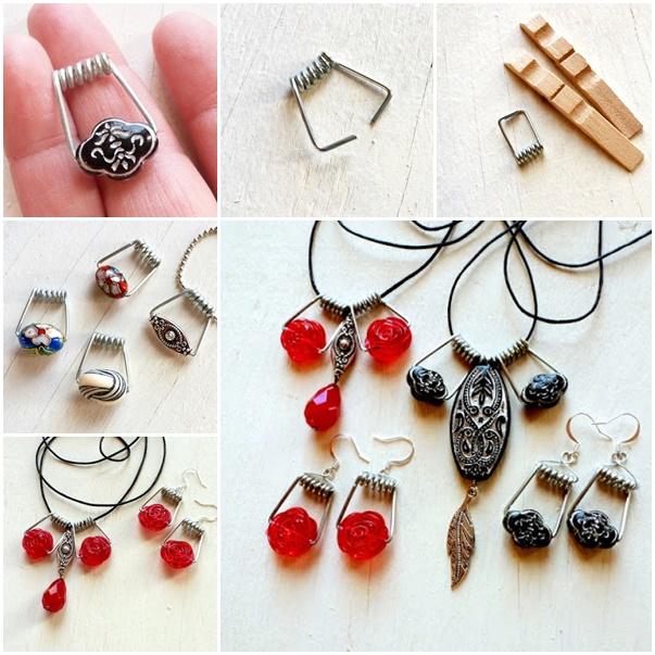 Turn Clothespins Into Wirework Jewelry