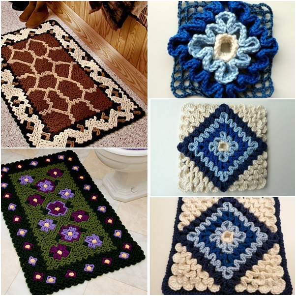 Crochet Rug Patterns For Beginners : How to DIY Wiggly Crochet Rug
