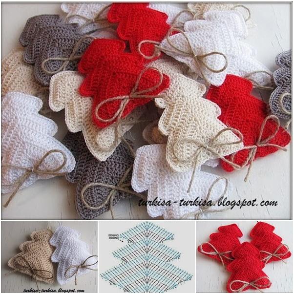 DIY Crochet Christmas Tree Ornament - Free Diagram