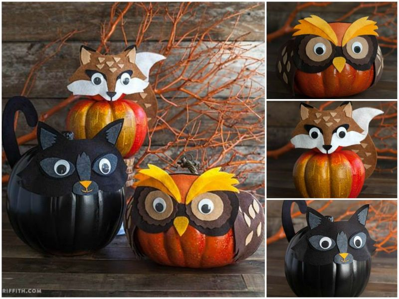 how to diy cute felt mask for halloween pumpkin