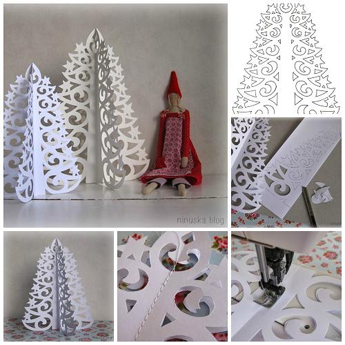 How To Diy Paper Christmas Tree From Template - Fab Art Diy