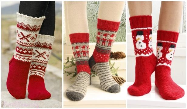 Christmas Socks Free Knitting Patterns