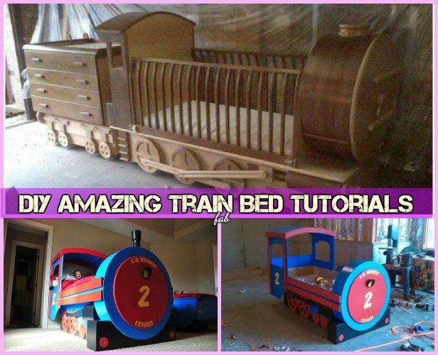 DIY Amazing Train Bed Tutorials