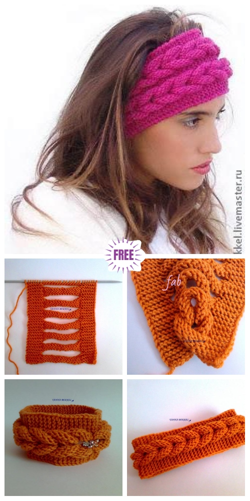 DIY Beautiful Knitted Faux Braid Headband Free Knitting Pattern - Video