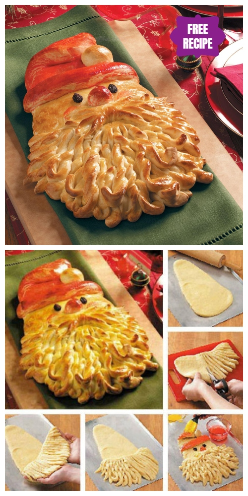 DIY Christmas Golden Santa Bread Recipes