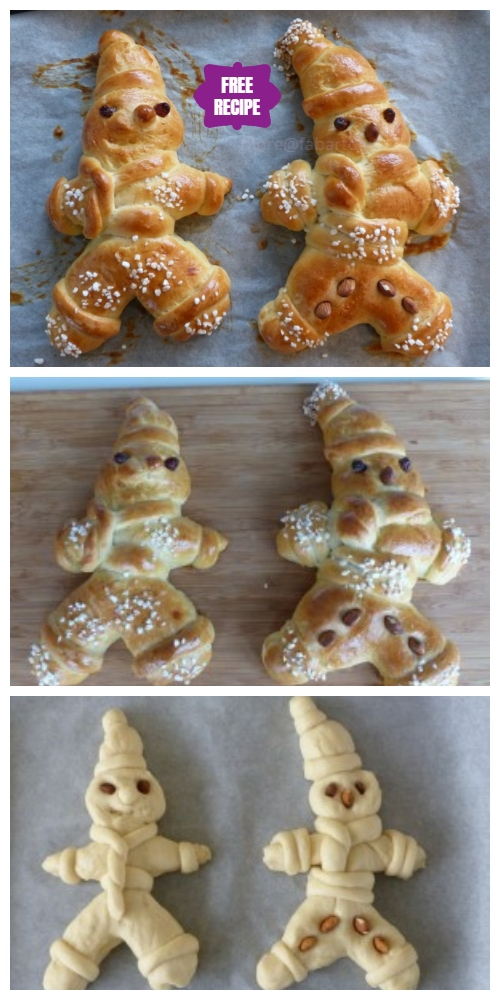 DIY Christmas  Advent Bread Man Recipe