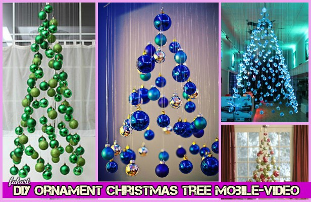 DIY Invisible Hanging Ornament Christmas Tree Mobile-Video