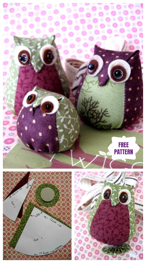 DIY Cute Fabric Owl Toy Tutorial - Free Template
