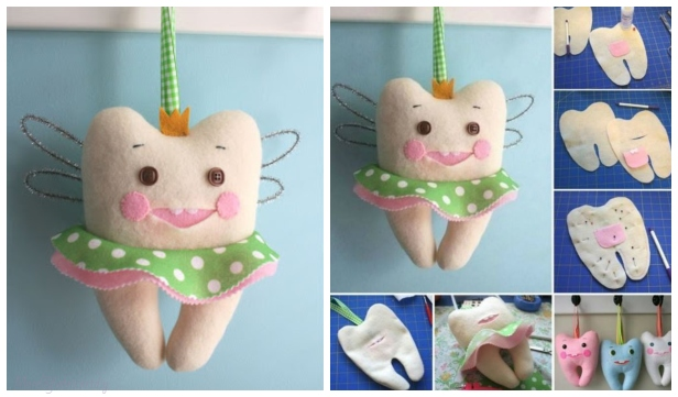 DIY Cute Tooth Fairy Pillow Sew Pattern & Tutorial