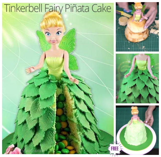 DIY Fairy Tinkerbell Pinata Cake Design Tutorial - Video