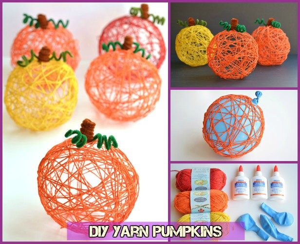Diy Halloween Yarn Pumpkin Tutorial