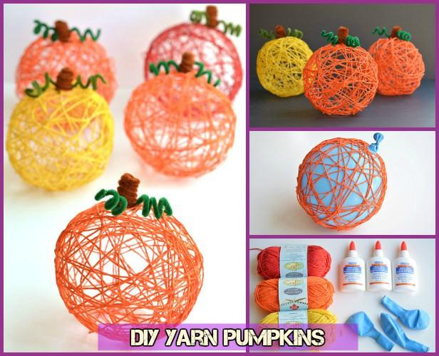 DIY Halloween Yarn Pumpkin Tutorial