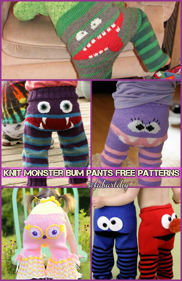 DIY Adorable Knitted Monster Pants Free Patterns