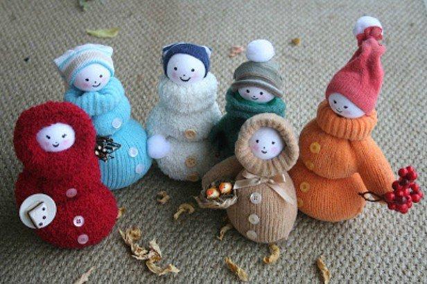 DIY Mitten Snowman Doll Tutorial