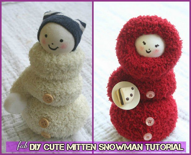 DIY Mitten Snowman Doll Tutorial