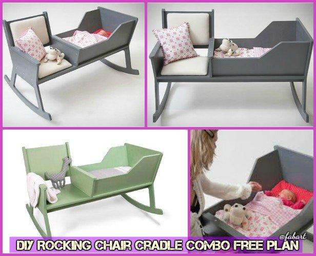 DIY Rocking Chair Cradle Combo Free Plan  Baby Cradle DIY Tutorial