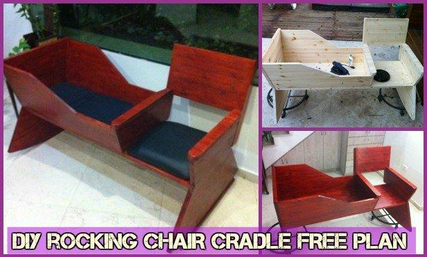 DIY Rocking Chair Cradle Combo Free Plan -Baby Cradle DIY Tutorial