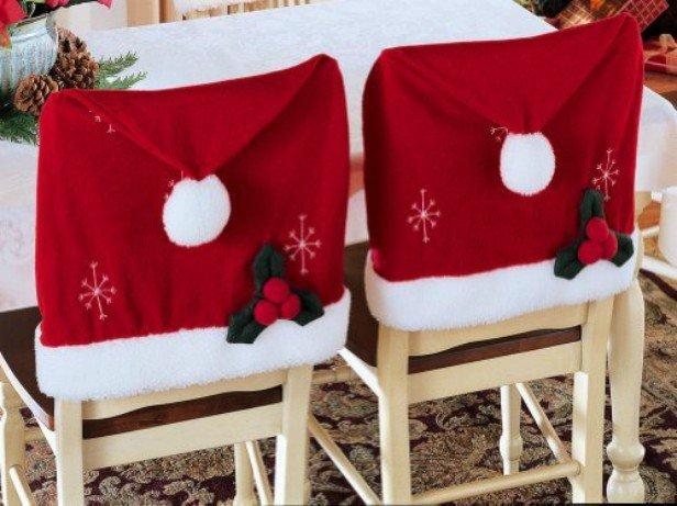 DIY Festive Santa Hat Chair Cover Table Setting (Video)