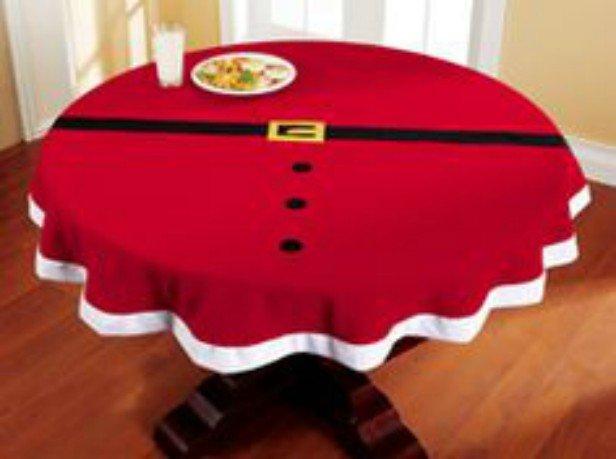 DIY Festive Santa Table Cover Table Setting (Video)