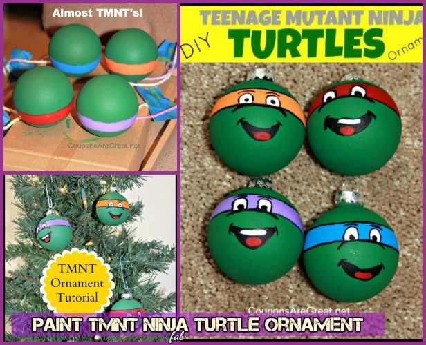DIY TMNT Ninja Turtle Christmas Ornaments- Paint Ninja Turtle Ornament Tutorial