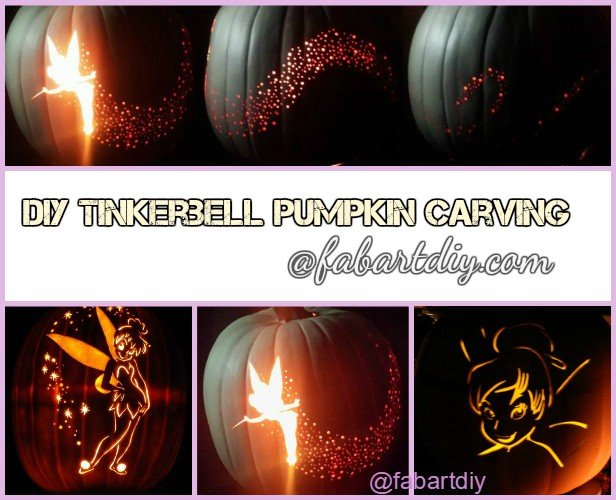 DIY Tinkerbell Pumpkin Carving Tutorial – Tinkerbell Pumpkin Template