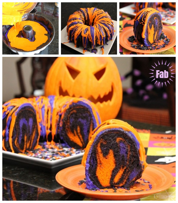 how to diy spectacular halloween rainbow party bundt cake tutorial with video