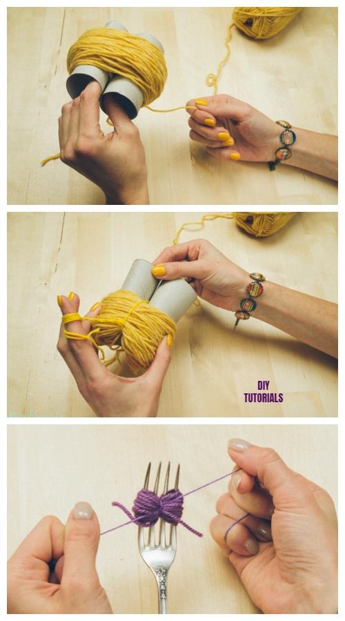 2 Incredible Ways to Make Yarn Pom Poms