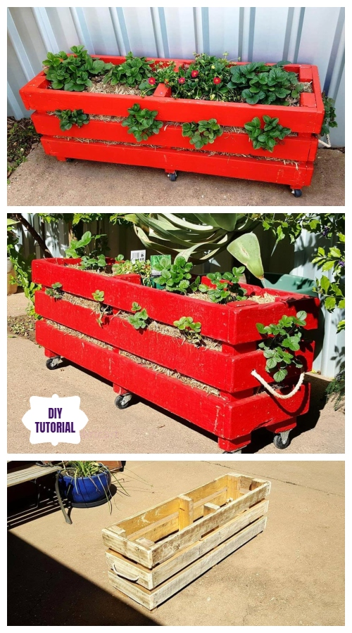 DIY Recycled Pallet Vertical Strawberry Planter Video