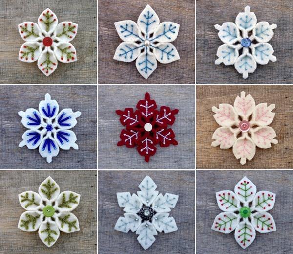 felt snowflake