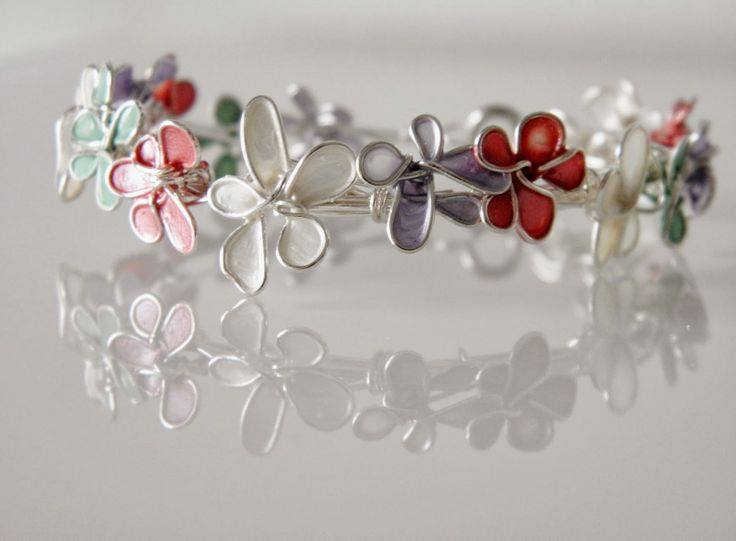 nail polish flower jewelry2