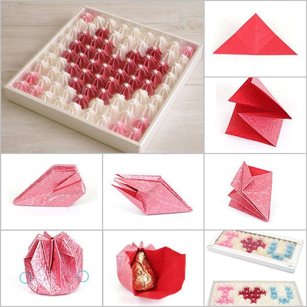 Diy Gift Box For Chocolates Origami Valentine Chocolate