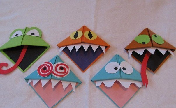 origami monster bookmark5