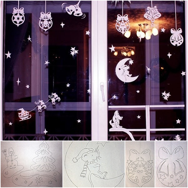 paper cutting for christmas window decor - Diy Christmas Window Decorations