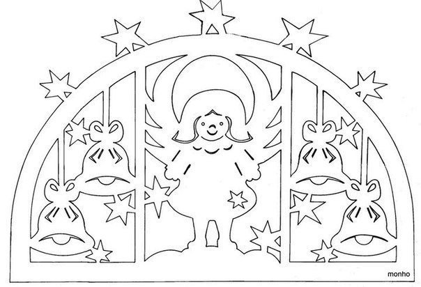 Free christmas paper cutting patterns for Beautiful paper cutting art