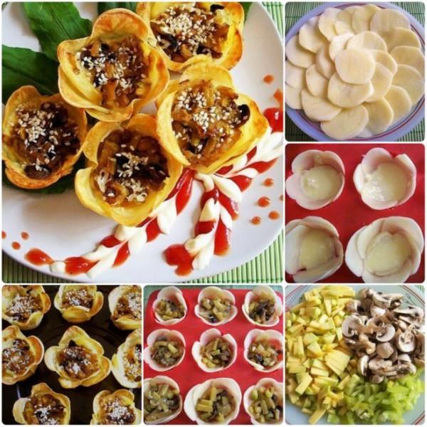 DIY potato flower cup recipe and tutorial