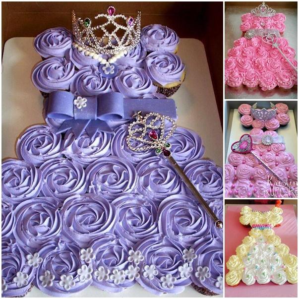 DIY Pull Apart Princess Cupcake Cake