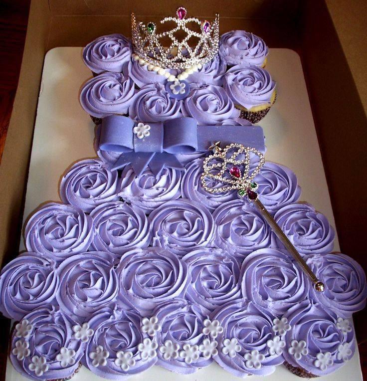 Princess Birthday Cake With Cupcakes Image Inspiration of Cake