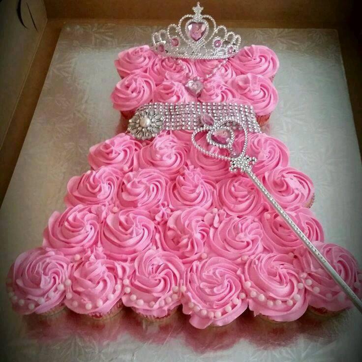 Princess Sofia Cupcake Dress Cake